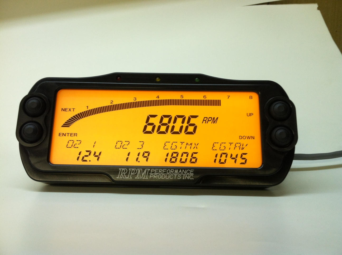 Drag Racing Data Logger Dash : Rpm data logger dash page yellow bullet forums